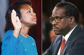 Anita Hill and Clarence Thomas